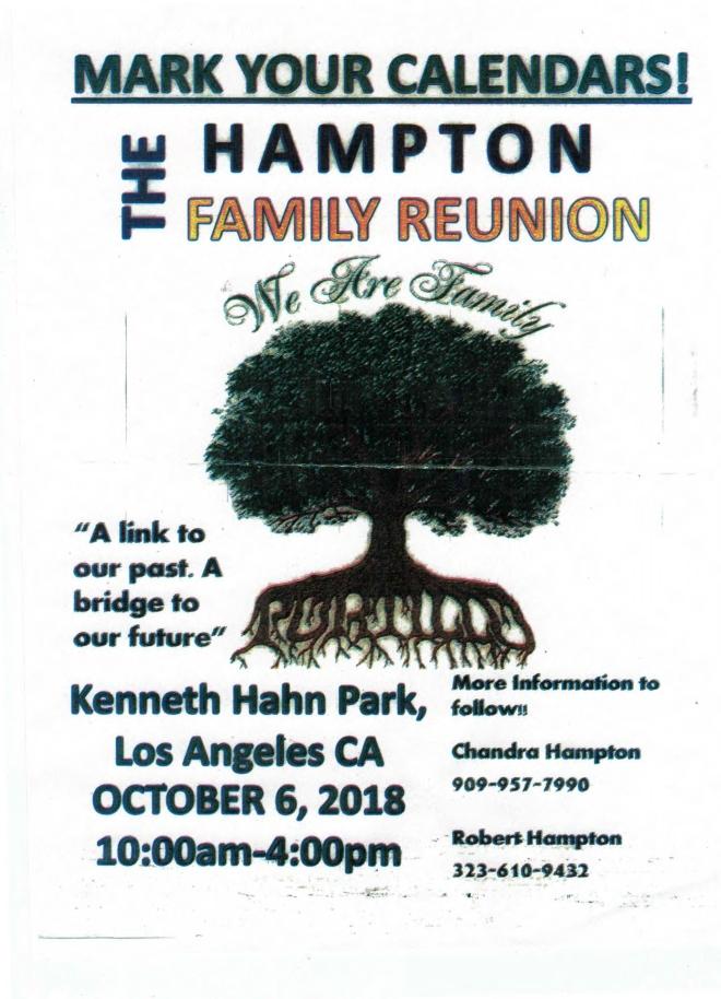 Hampton Family Reunion LA 2018